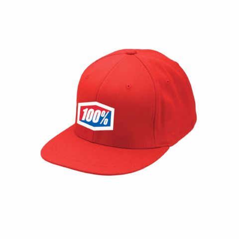 100% ESSENTIAL J-FIT Flexfit Hat Red